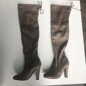 Steve Madden Taupe Over the Knee Boots